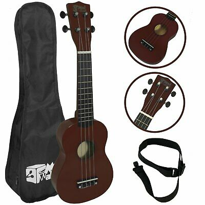 Mad About Beginners Natural Soprano Ukulele with Strap