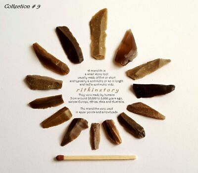 ⚱ Ancient Neolithic • Paleo Flint Blades • Arrowheads • Microliths • Israel ⚱