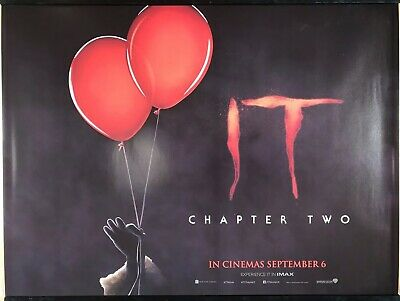 IT : CHAPTER TWO Original UK Cinema Quad Poster.