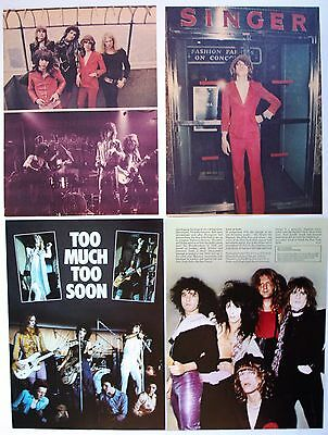 New York Dolls  Johnny Thunders  Arthur Kane  A4 Poster Cutting Clipping Pin Up