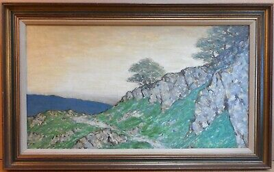 Cumbrian hillside track. Original Oil by Sir Charles John Holmes NEA RWS, 1911