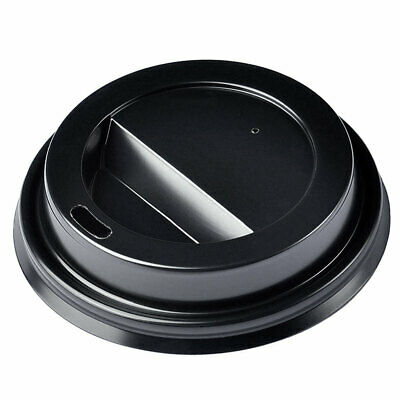 Disposable Black Coffee Cup Sip Lids for 12/16oz Coffee Cups - Set of 1000
