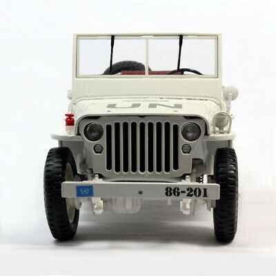 1:18 Scale Diecast Model Metal Car Jeep Willys USA Military Army 1/4 Ton Truck