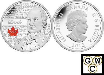 2012 'Sir Isaac Brock - Heroes of 1812' Proof $4 Silver Coin .9999 Fine (13069)