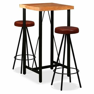 VIDAXL ENSEMBLE DE Bar 3 pcs Table Ronde Argenté Aluminium ...