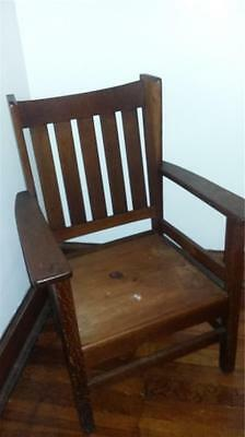 Vintage Stickley Bro Wingside Mission Oak Chair    Rare Craftsman