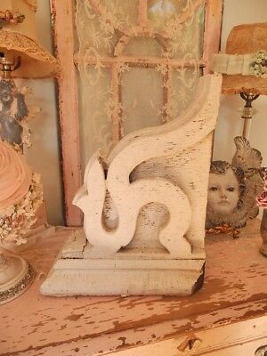 Wonderful Antique Architectural CORBEL with cHiPpY White Old Paint