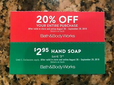 2 Bath & Body Works Coupons-EXP 9/29/2019