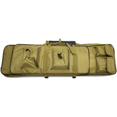 Tactical Double Dual Carbine Rifle Range Gun Padded Case Bag Hunting Backpack