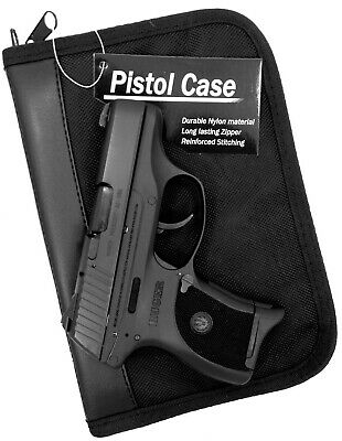 PISTOL GUN CONCEALMENT STORAGE CASE w/ EXTRA MAG HOLDER for