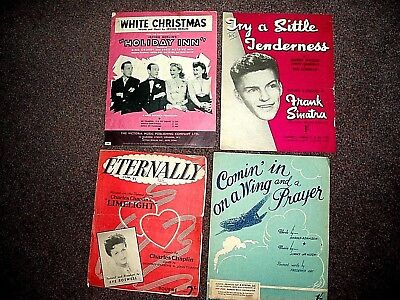 4 vintage piano music.Famous songs - 1930s/40s/50s ,Eternally,Crosby,Sinatra,etc