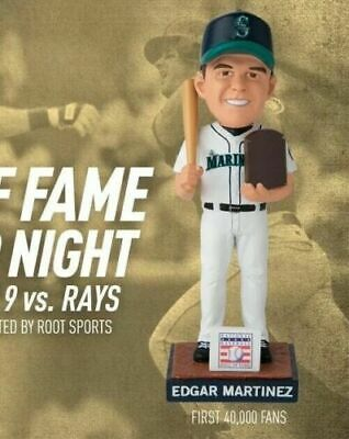 EDGAR MARTINEZ 2019 HALL OF FAME HoF BOBBLEHEAD SEATTLE MARINERS SGA 8/9/19 []