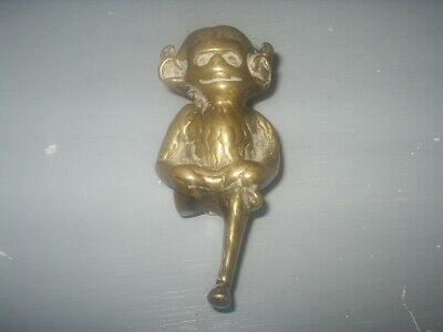 Vintage LINCOLN IMP Small BRASS DOOR KNOCKER  Very Good Condition 8cm tall