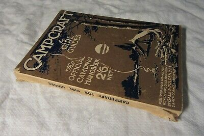 c1930s CAMPCRAFT For GUIDES - The Girl Guides Association PB Book
