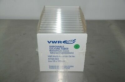 VWR 47729-583 Disposable Culture Tubes Borosilicate Glass 125 per box