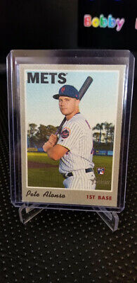 2019 Pete Alonso Topps Heritage High Series RC Cloth Sticker New York Mets