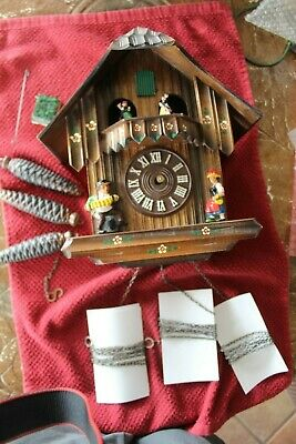 Parts -VINTAGE CLASSIC MUSICAL SCHMECKENBECHER CUCKOO CLOCK DANCERS-GERMANY