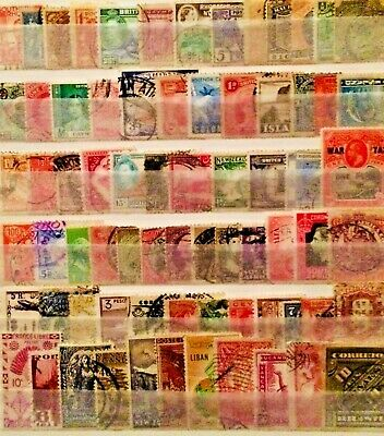 Flawed Old World & C/Wealth Stamps Collection Unchecked Educational Lot 01190819