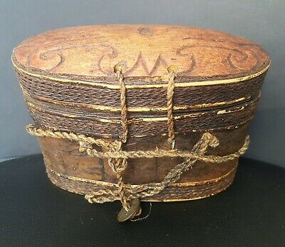 Iban Dayak Borneo. Witch doctor or sharman's magic box of wood and fiber.