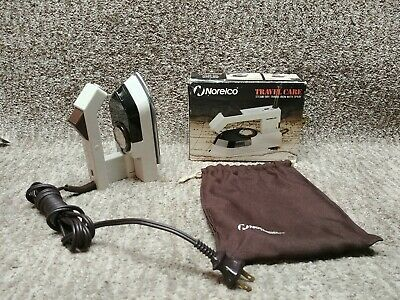 Norelco Travel Iron Steam Dry Spray Compact Folding Handle Easy Pack Model T170