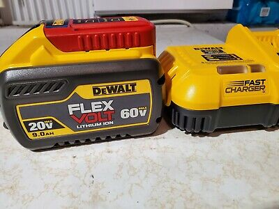 DEWALT 20V/60V 9.0 Ah FlexVolt Battery & Fast Charger DCB609 & DCB118 (NEW)