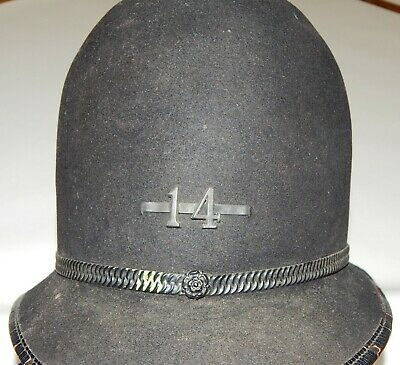 Original antique POLICE HELMET late 1800s early 1900s Victorian Policeman's HAT