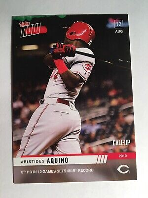 2019 Topps Now Online Exclusive Aristides Aquino Reds MLB Record Call Up 675