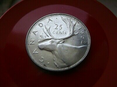 "1952 Canada 25 Cent ""High Relief"" Silver Quarter"