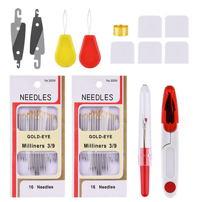 Cross Stitch Embroidery Starter Multicolored Tool Kit Needle Thread Knitting Set