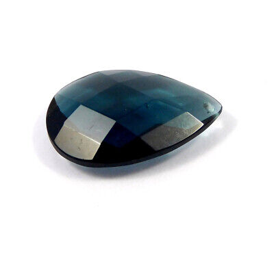 26 Cts. Natural Faceted Pear Shape Blue Hydro Cut Gemstone AAK1403
