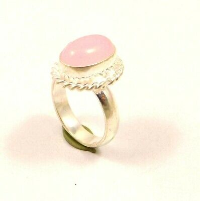 A++ Charming Chalcedony Silver Designer Jewelry Ring Size 8.75 JC6340