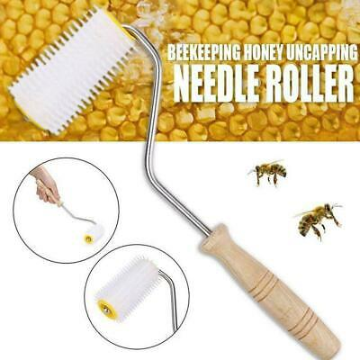 Plastic Uncapping Needle Roller Bee Honey Comb Extracting Tool Beekeeping U8C8