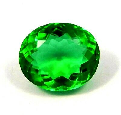 A++Treated Faceted Emerald Gemstone  14 CT 15x12mm  NG12011