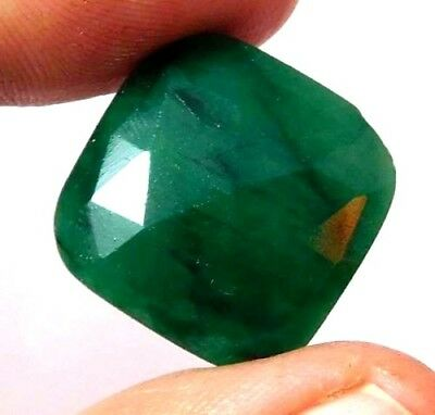 Dyed Faceted beryl Gemstone 21 ct 18x18mm AQ690
