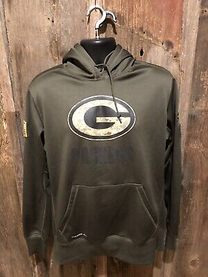 timeless design 1063f 5ea2a NIKE GREEN BAY Packers 2018 Salute to Service Hoodie 944236 ...