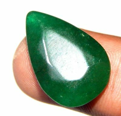 Dyed Faceted Beryl Emerald Top Cabochon Loose Gemstone 18 ct 23x16 F82