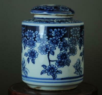 China Old Hand-made Blue White Porcelain Hand Painted Plum Blossom pot B01