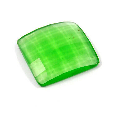 62 Cts. Natural Faceted Green Chalcedony Cut Gemstone AAK1380
