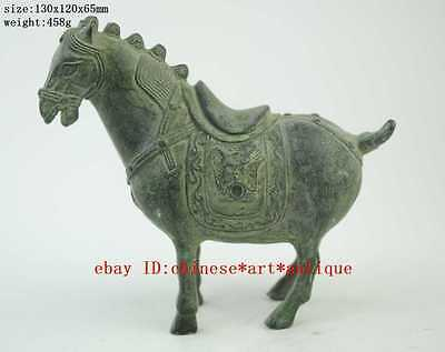 china Collectible Decorated Old Handwork Bronze sculpture Horse statue c01