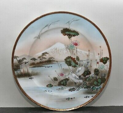Stunning Antique Japanese Hand Painted Porcelain Plate Circa Early 1900s
