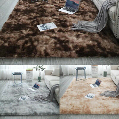 Modern Pink Blush Cosy Shaggy Rugs Soft Thick Furry Polyester Living Room Rug UK