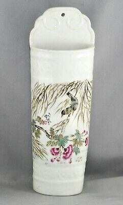 Rare Antique Chinese Republic Porcelain Chopstick Holder Perfect Condition c1920