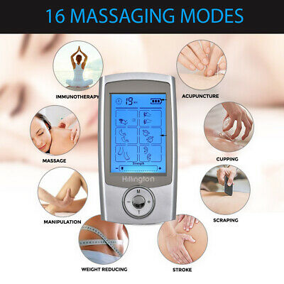 Tens Machine Digital Therapy Full Massager Pain Relief Acupuncture Sciatic New