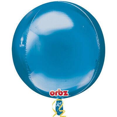 15inch Orbz Foil Balloon Navy Blue Bubble Large 15inch Baby Boys Birthday Amscan