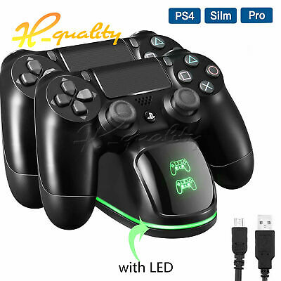 For PS4 Dual Controller Fast Charger Charging Dock Stand Dualshock USB Port