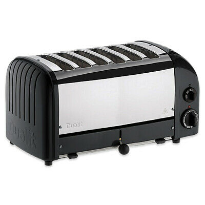 Dualit 60145 Classic Style Vario Six Slot Toaster 6 Slice Black / Stainless