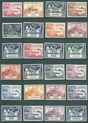 BRITISH COLONIES George VI mint stamp collection: 1949 UPU issues