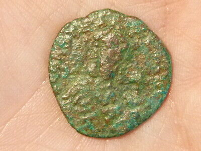 UNIDENTIFIED Ancient Byzantine Bronze Coin 25mm  STUDY RESEARCH diggerlee #Q180