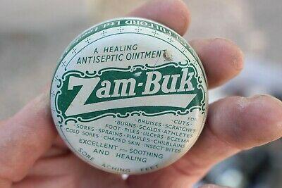 Antique Zam Buk Antiseptic Ointment Feet Medicine Collectible Tin Can S10