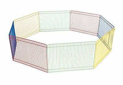 Small Pet Animal Guinea Pig Exercise Play Pen Portable Fence Cage Indoor Outdoor